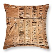 Hieroglyphs In The Temple Of Kalabsha  Throw Pillow