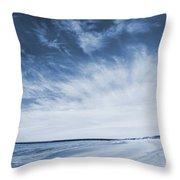 Higbee Beach Cyanotype Throw Pillow