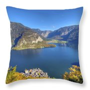 High Above Halstatt Throw Pillow