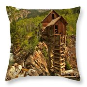 High Above The Crystal River Throw Pillow by Adam Jewell