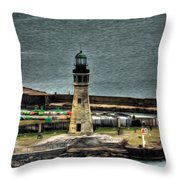 High Above The Lighthouse  Throw Pillow