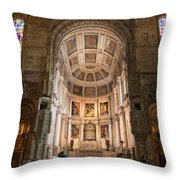 High Altar In Church Of Jeronimos Monastery Throw Pillow