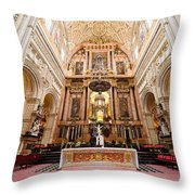 High Altar Of Cordoba Cathedral Throw Pillow