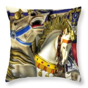 High And Boastful Neighs Throw Pillow