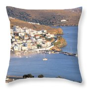 High Angle View Of Buildings Throw Pillow