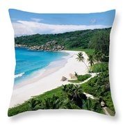 High Angle View Of The Beach, Grand Throw Pillow