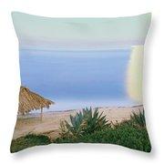 High Angle View Of Windansea Beach, La Throw Pillow