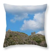 High As The Sky - Blue Sky - Cliffs Throw Pillow