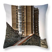 High Building In Kiev Throw Pillow