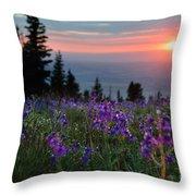 High Country Dawn Throw Pillow