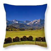 High Country Harvest Throw Pillow