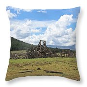 High Country Roundup The Old Days Throw Pillow