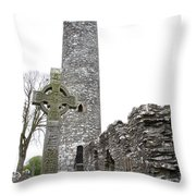 High Cross And Round Tower Monasterboice Throw Pillow