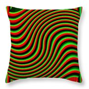 High Definition Color 5 Throw Pillow