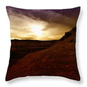 High Desert Clouds Throw Pillow