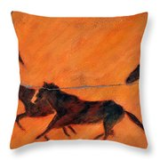High Desert Horses - Study No. 1 Throw Pillow