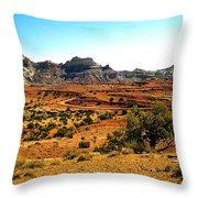 High Desert View Throw Pillow