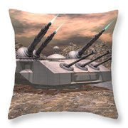 High Energy Lasers  Throw Pillow