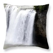 High Falls In Rochester New York Throw Pillow