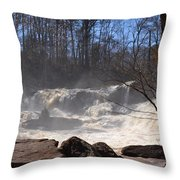 High Falls State Park Throw Pillow