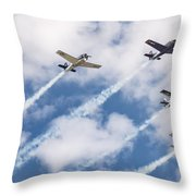 High Flying Five Throw Pillow