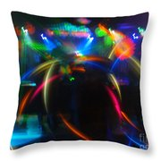 High Frequency Glow Throw Pillow