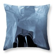 High Heels And Petticoats Throw Pillow