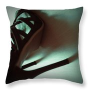 High Heels Brown Stylish Shoes Throw Pillow