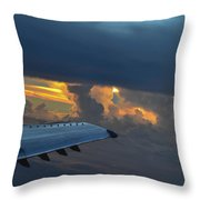 High In The Clouds II Throw Pillow