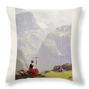 High In The Mountains Throw Pillow