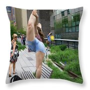 High Line Exhibitionist Throw Pillow