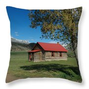 High Lonesome Ranch Throw Pillow by Jerry McElroy
