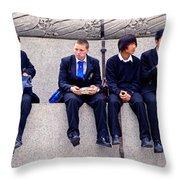 High Lunch Throw Pillow