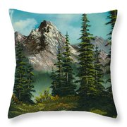 High Meadow Throw Pillow by C Steele