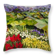 High Mountain Patch Throw Pillow