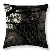 High Noon At Midnight Throw Pillow