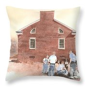 High Noon Shootout At The Tidal School  Throw Pillow