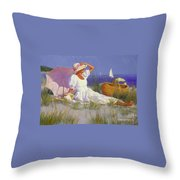 High On A Dune Throw Pillow