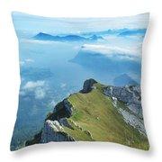 High On Nature At Mt. Pilatus Throw Pillow