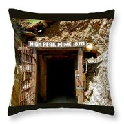 High Peak Mine Throw Pillow by Denise Mazzocco