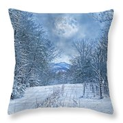 High Peak Mountain Snow Throw Pillow