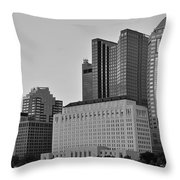 Columbus Close Up Black And White Throw Pillow