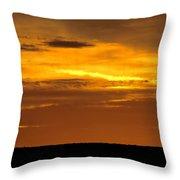 High Plains Sundown Throw Pillow