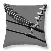 High Power Line - 4 Throw Pillow