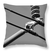High Power Lines - 1 Throw Pillow