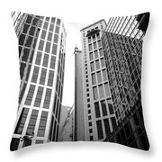 High Rise Building In The Financial Center Of Hong Kong Throw Pillow