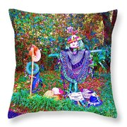 High Satch Scarecrow In A Hat Throw Pillow