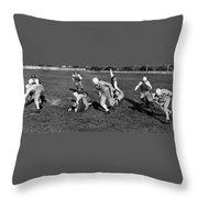 High School Football, 1941 Throw Pillow