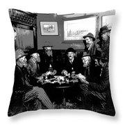 High Stakes Poker - 1913 Throw Pillow