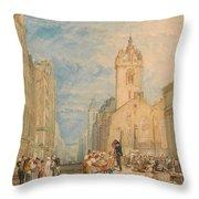 High Street - Edinburgh Throw Pillow